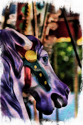 Photograph - Purple Carousel Horse by Norma Warden