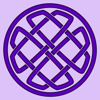 Digital Art - Purple Celtic Knot by Jane McIlroy