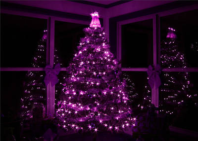Purple Christmas Art Print by Lori Deiter