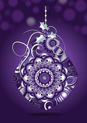 Digital Art - Purple Christmas Ornament by Serena King