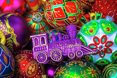 Photograph - Purple Christmas Train by Garry Gay
