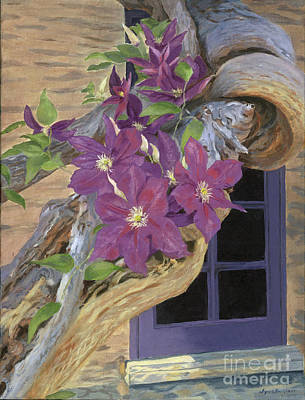 Painting - Purple Clematis by Lynne Reichhart