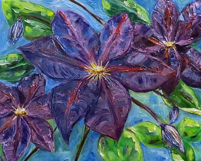 Painting - Purple Clematis by Sandra Cutrer