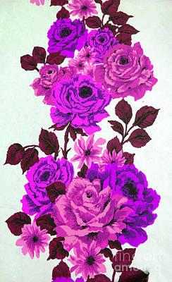 Photograph - Purple Climbing Roses by Brenda Kean