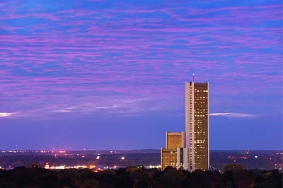 Photograph - Purple Clouds Over Cityplex Towers by Gregory Ballos