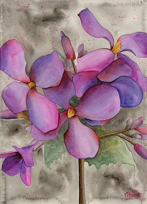 Painting - Purple Cluster by Ken Powers