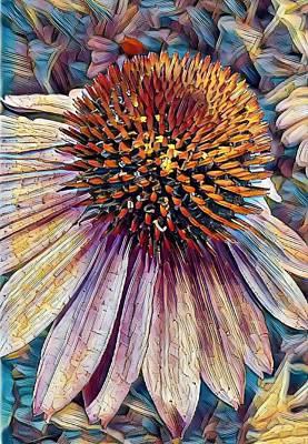 Digital Art - Purple Coneflower by Caryl J Bohn