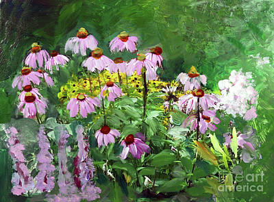 Painting - Purple Coneflower In Bloom by Donna Walsh