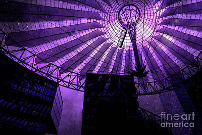 Photograph - Purple Cosmic Berlin by Brenda Kean
