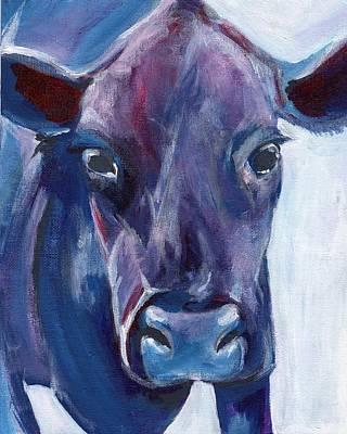 Purple Cow Art Print by Anne Seay