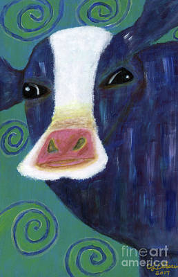 Painting - Santa Cow by Carol Eliassen