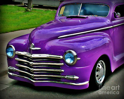 Purple Car Photograph - Purple Cruise by Perry Webster