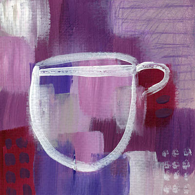 White House Mixed Media - Purple Cup- Art By Linda Woods by Linda Woods