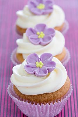 Purple Cupcakes Print by Ruth Black