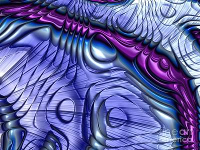 Fantasy Digital Art - Purple Curve  by John Edwards