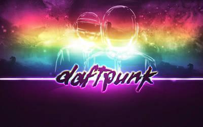 Daft Punk Painting - Purple Daft Punk - 34 by Jovemini ART