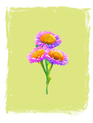 Painting - Purple Daisies by Jai Johnson