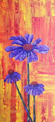 Painting - Purple Daisy by T Fry-Green