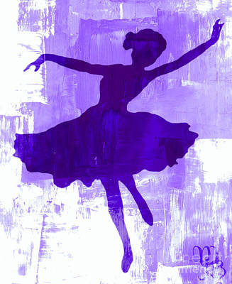 Digital Art - Purple Dancer by Mindy Bench