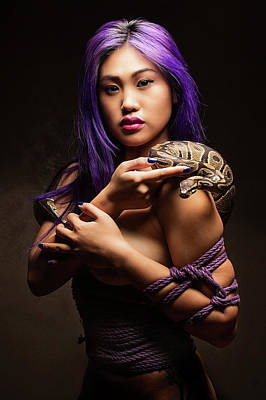 Asian Nude Photograph - Purple by David April