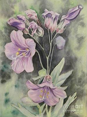 Purple Delight Wildflowers Art Print