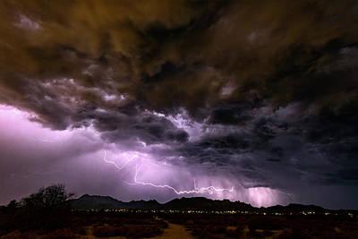 Photograph - Purple Desert Nights  by Saija Lehtonen