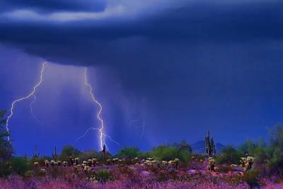 Purple Desert Storm Print by James BO  Insogna