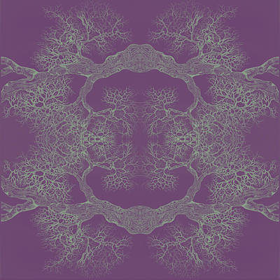 Digital Art - Purple Desire Tree 8 Hybrid 1 by Brian Kirchner