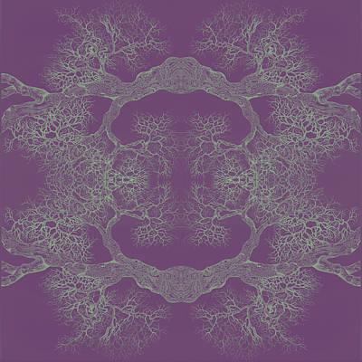 Katharine Hepburn - PURPLE DESIRE Tree 8 Hybrid 1 by Brian Kirchner