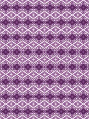Digital Art - Purple Diamonds by Elizabeth Lock
