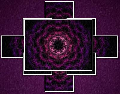 Digital Art - Purple Digital by Megan Walsh