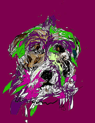 Digital Art - Purple Dog by Joyce Goldin