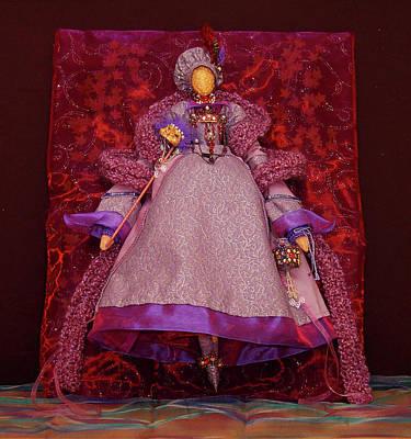 Mixed Media - Purple Doll by Judy Henninger
