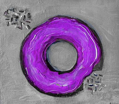 Digital Art - Purple Donut By Lisa Kaiser by Lisa Kaiser