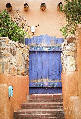 Photograph - Pretty Purple Door In Santa Fe by Sabrina L Ryan