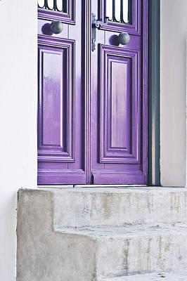 Purple Door Art Print by Tom Gowanlock