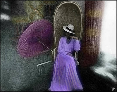 Photograph - Purple Dress by Wayne King