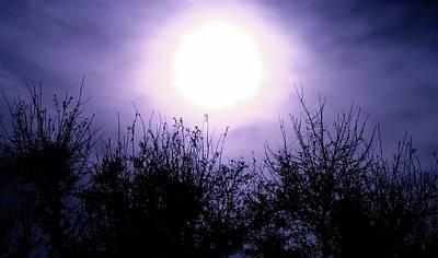Hued Photograph - Purple Eclipse by Greg Joens