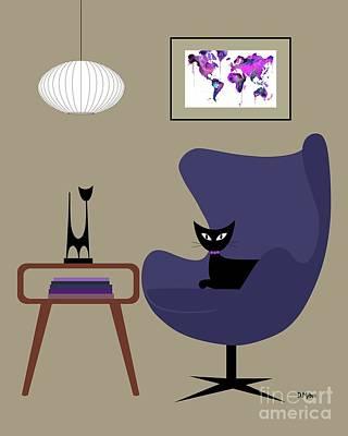 Purple Egg Chair Art Print by Donna Mibus