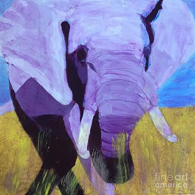Painting - Purple Elephant by Donald J Ryker III