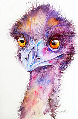 Emu Painting - Purple Emu by Arti Chauhan