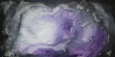 Purple Explosion By Madart Art Print by Megan Duncanson