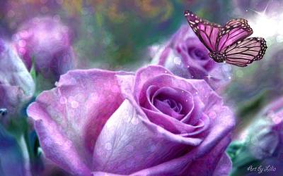 Purple Fantasy Art Print