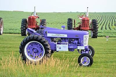 Photograph - Purple Farmall by Bonfire Photography
