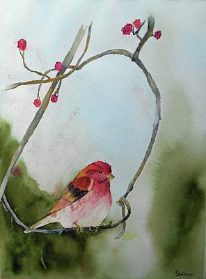 Painting - Purple Finch by Christine Lathrop