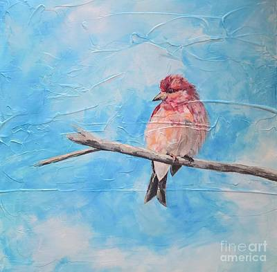 Painting - Purple Finch by Lisa Dionne