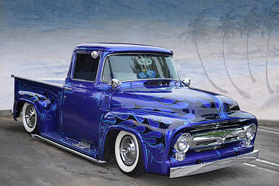 Photograph - Purple Flames Pickup by Bill Dutting