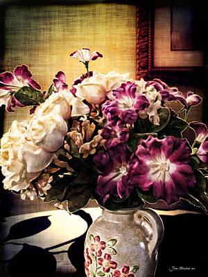 Photograph - Purple Floral Arrangement by Joan  Minchak