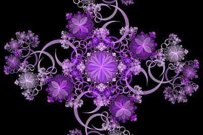 Photograph - Purple Floral Celebration by Sandy Keeton