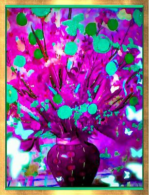 Purple Floral Art Print by HollyWood Creation By linda zanini